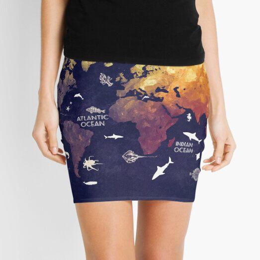 world map 11 Mini Skirt