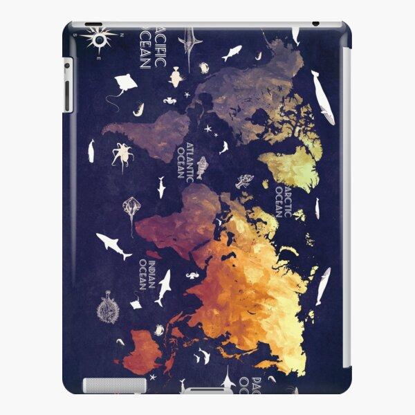 world map 11 iPad Snap Case