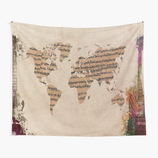 Music world map #map #worldmap Tapestry