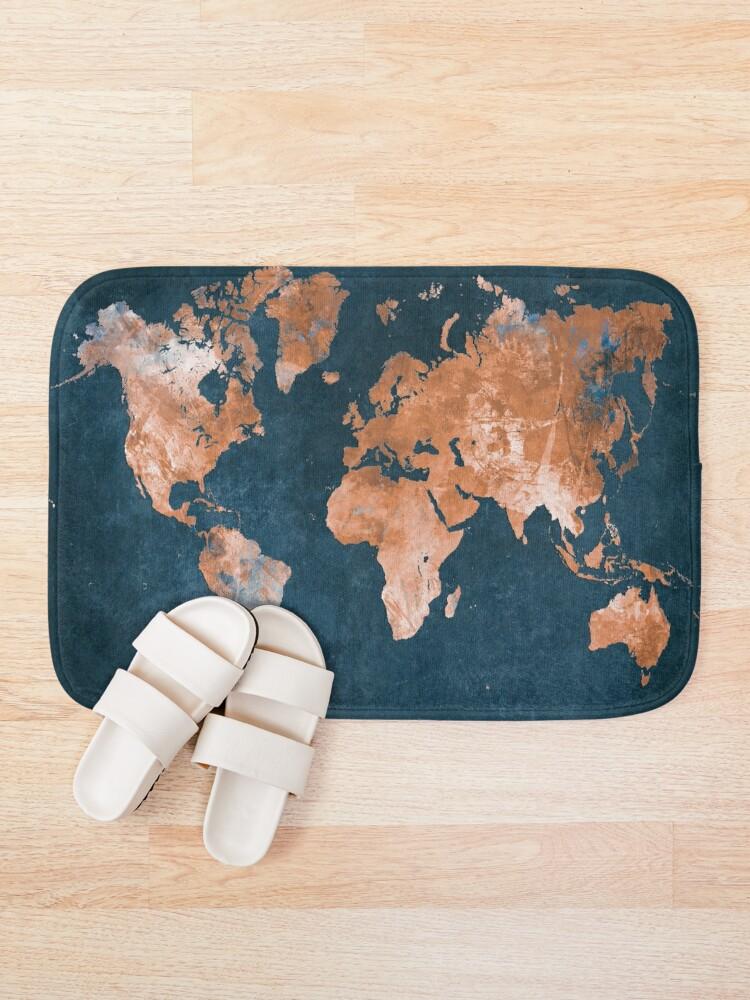 Alternate view of world map 15 #map #worldmap Bath Mat