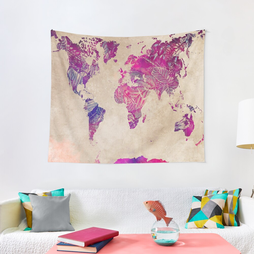 world map 22 #map #worldmap Tapestry