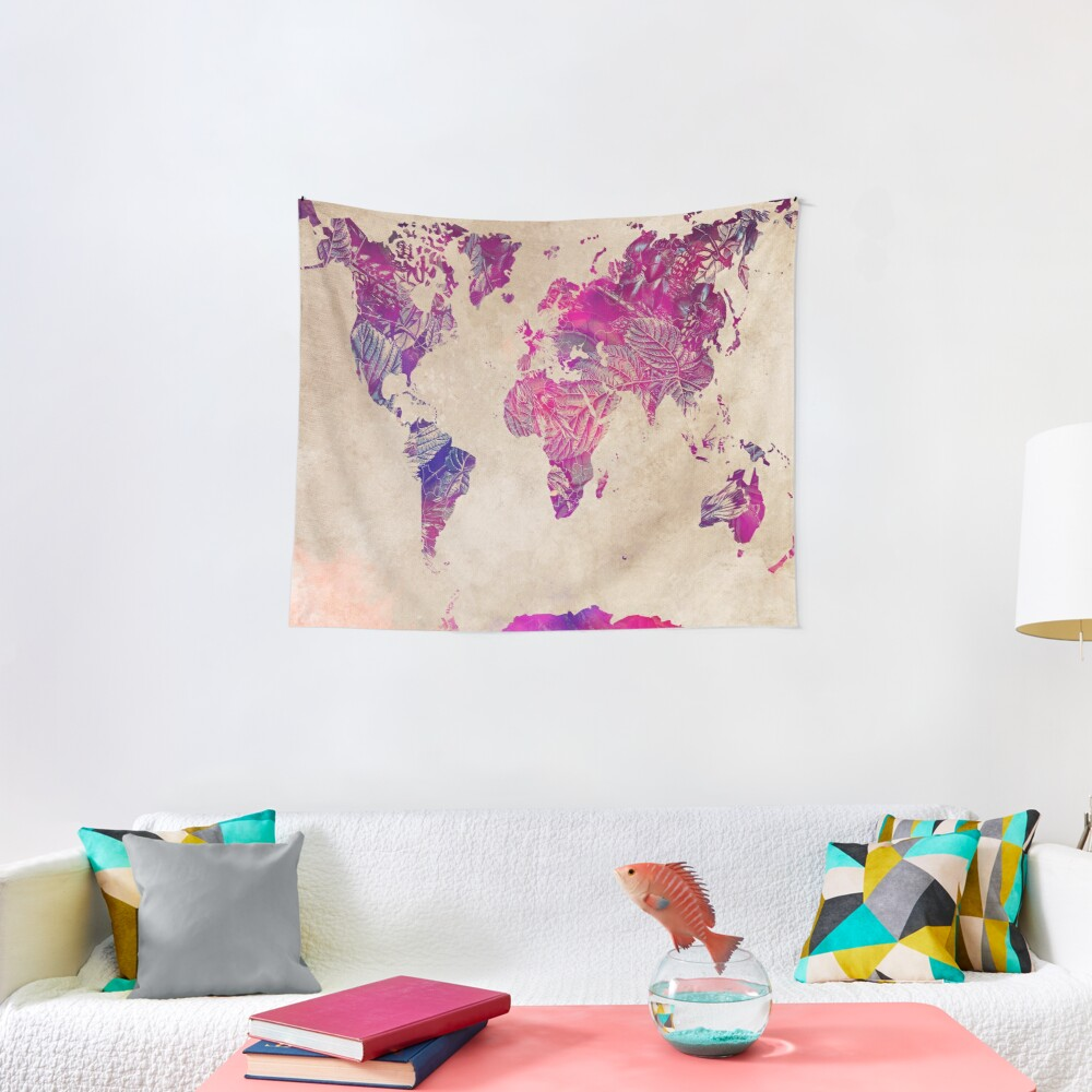 world map 22 #map #worldmap Tapestry