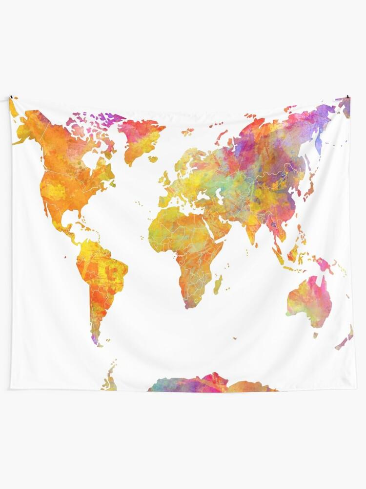 Alternate view of world map 23 #map #worldmap Tapestry