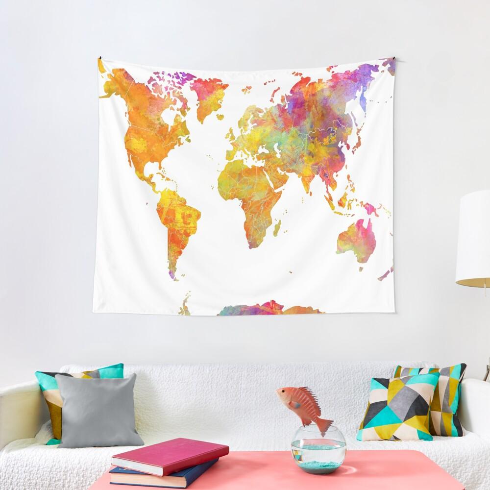 world map 23 #map #worldmap Tapestry