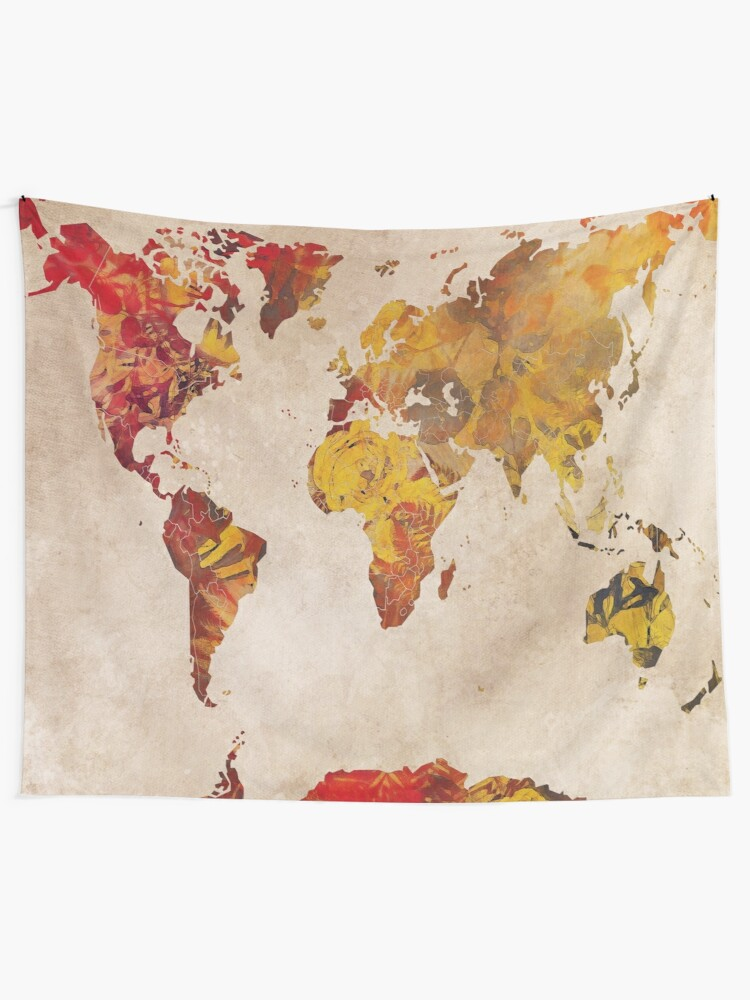 Alternate view of world map 24 #map #worldmap Tapestry