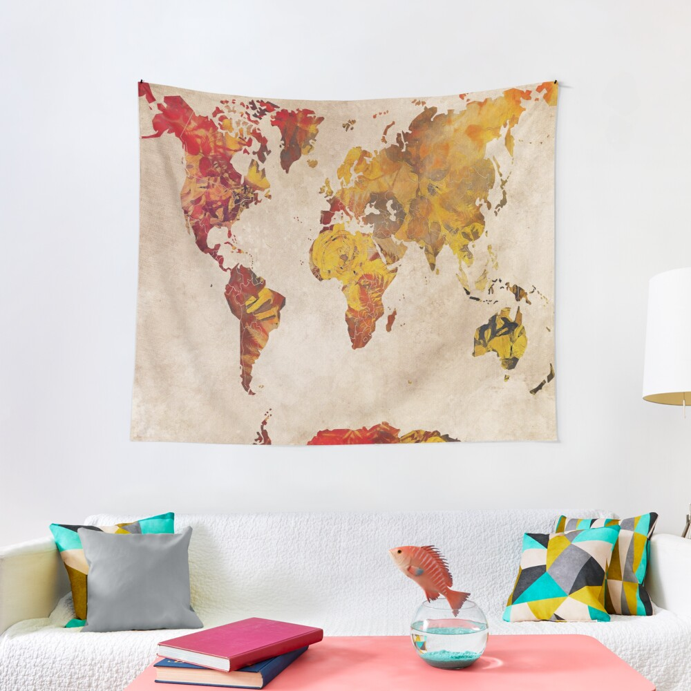 world map 24 #map #worldmap Tapestry