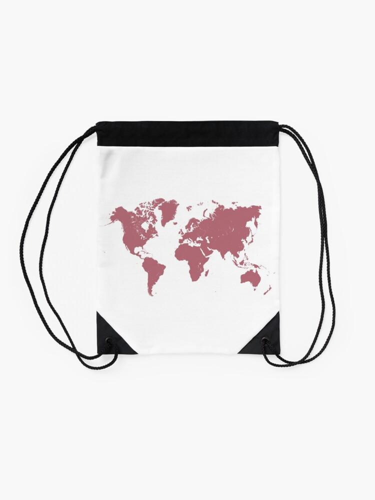 Alternate view of world map 26 #map #worldmap Drawstring Bag
