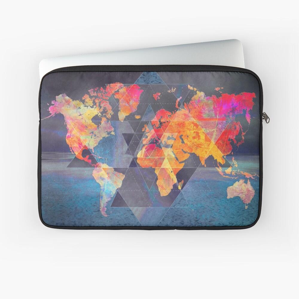 world map 32 sacred #map #worldmap Laptop Sleeve