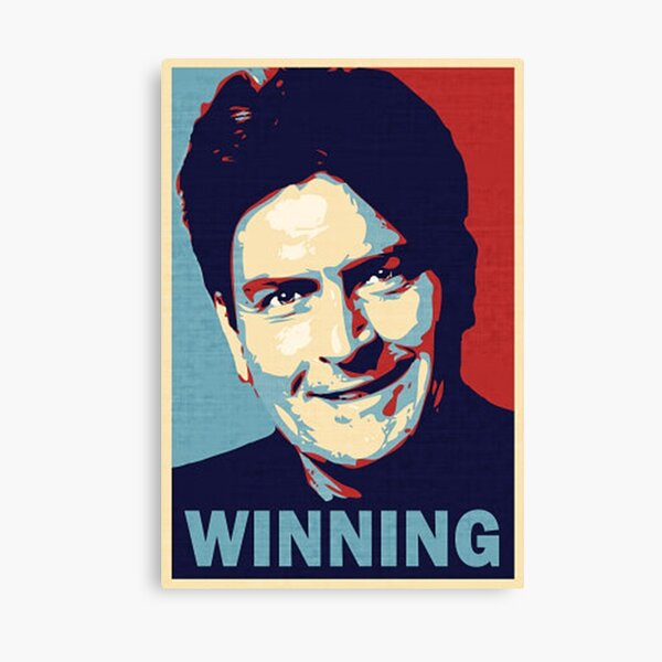 Winning, by Charlie Sheen Canvas Print