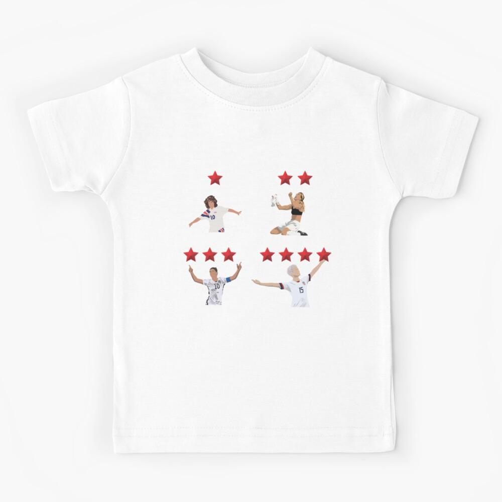USWNT 4 Sterne Kinder T-Shirt