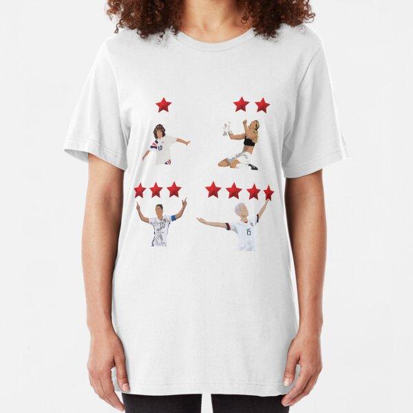 USWNT 4 Stars Slim Fit T-Shirt