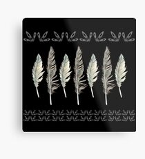 Dark & Stormy Feather Formation Metal Print