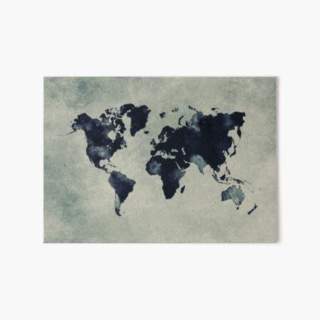 world map 60 #map #worldmap Art Board Print