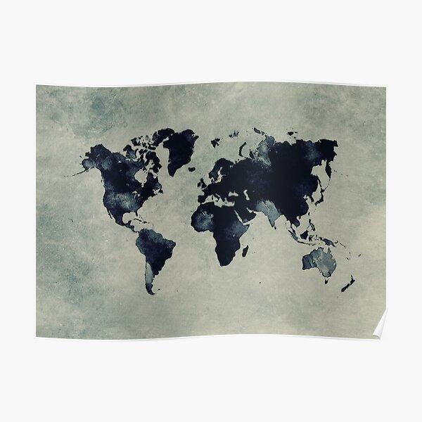 world map 60 #map #worldmap Poster