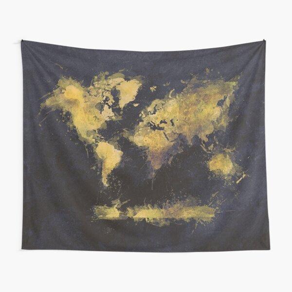 world map 65 yellow #map #worldmap Tapestry