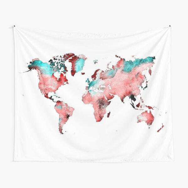 world map 72 #map #worldmap Tapestry