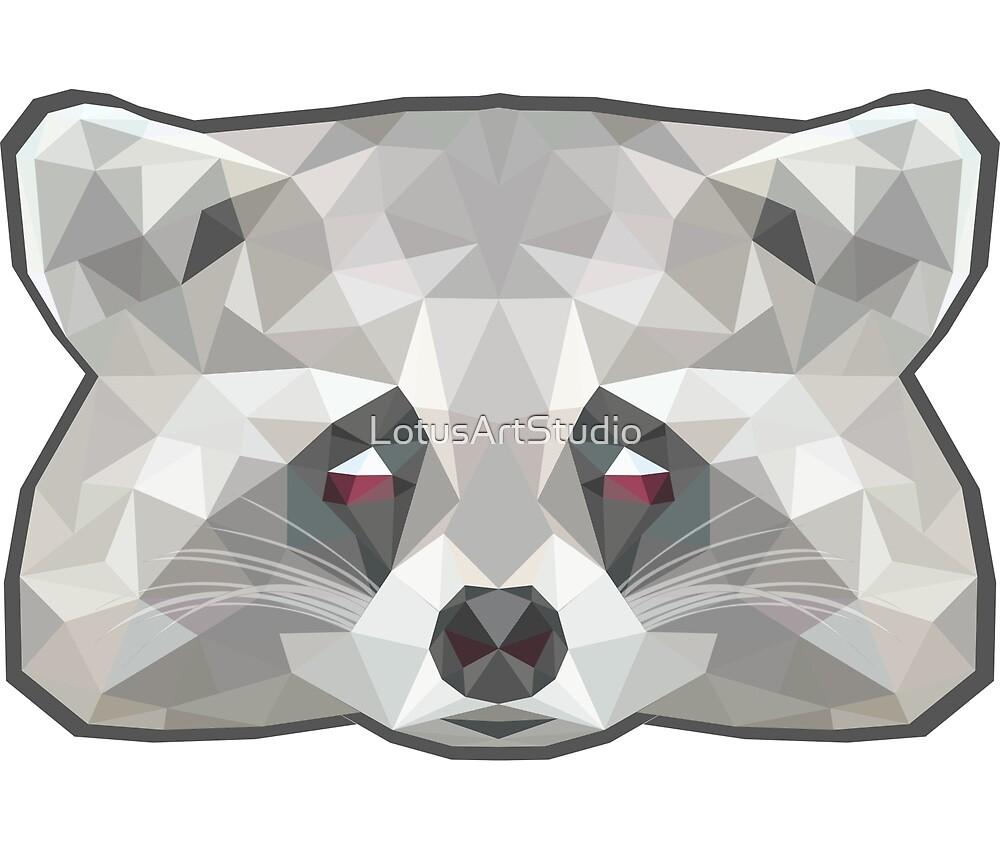 Raccoon poly by LotusArtStudio