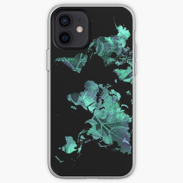 world map 77 blue #map #worldmap iPhone Soft Case