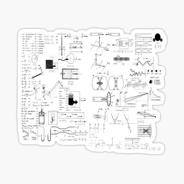 General Physics Formula Set Sticker