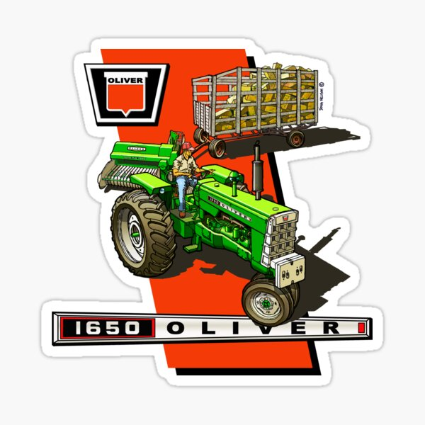 Oliver 1650 Sticker