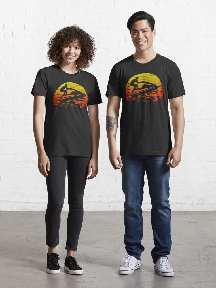Retro Vintage Jet Ski T-Shirt Jetski Skier Tee Skiing T Shirt Gift Idea