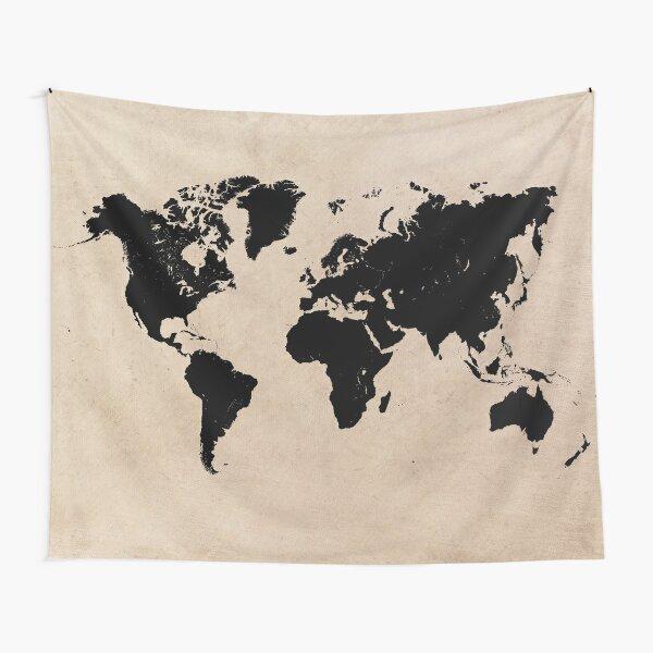 world map 94 black #worldmap #map #world Tapestry