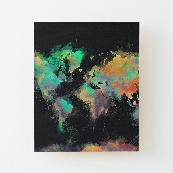 world map 107 #worldmap #map Wood Mounted Print
