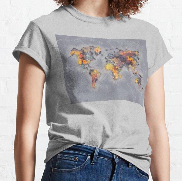 world map 111 #worldmap #world #map Classic T-Shirt