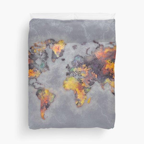 world map 111 #worldmap #world #map Duvet Cover