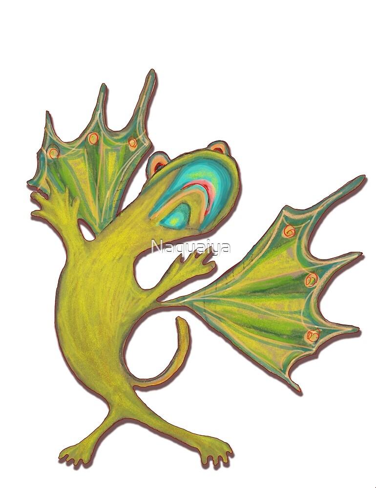 Mischievous Green Critter by Naquaiya