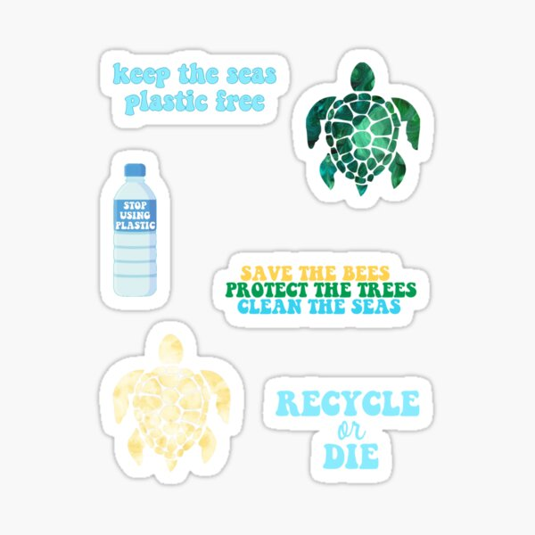 Package of Environmental Stickers  Sticker