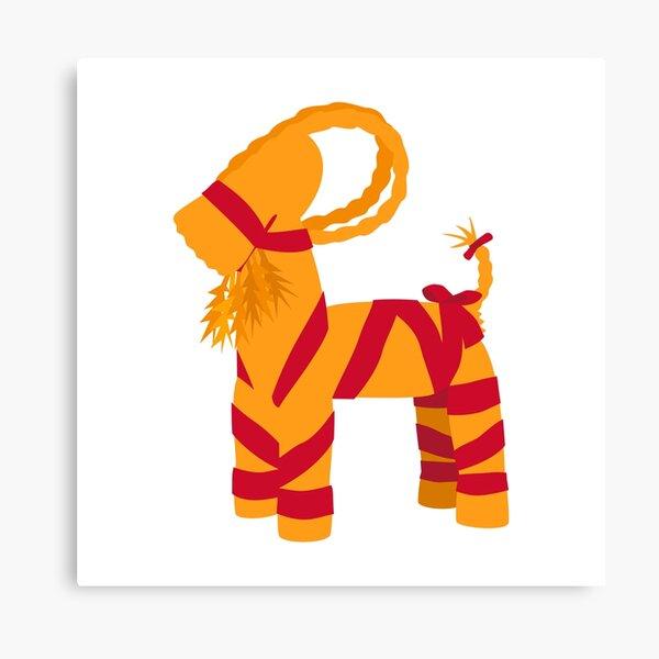 Swedish Halmbock Straw Goat Ornament Canvas Print
