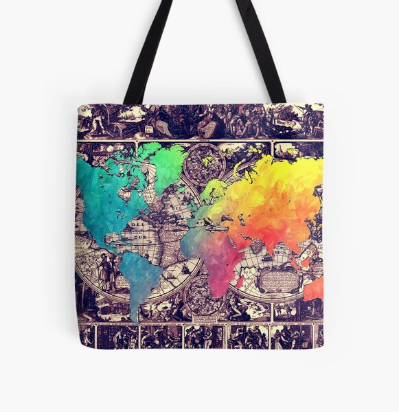 world map 130 #worldmap #map All Over Print Tote Bag
