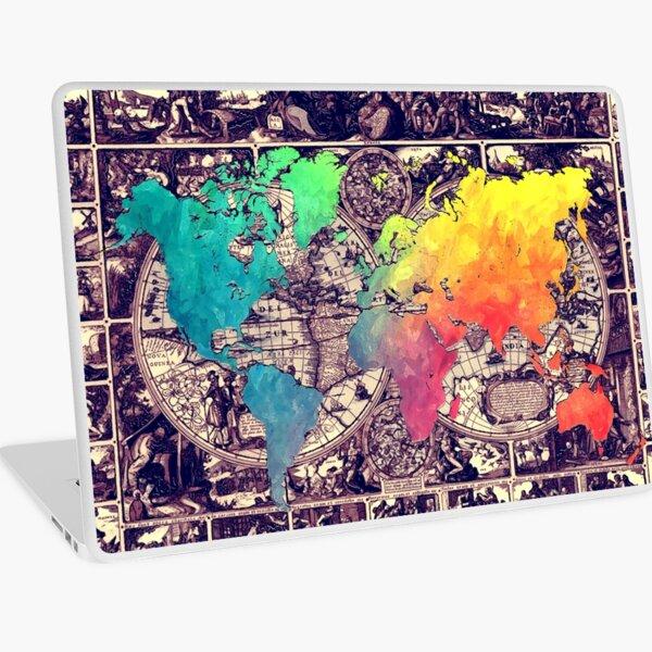 world map 130 #worldmap #map Laptop Skin