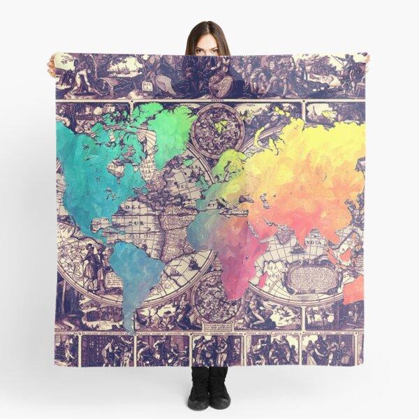 world map 130 #worldmap #map Scarf