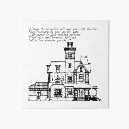 practical magic house rules Art Board Print