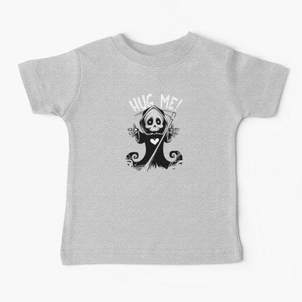Kids Boys Girls Punk Skeleton T-Shirt Guitar Rock Goth Skull Biker Music