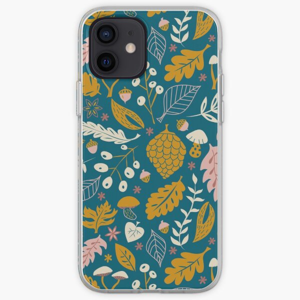 Fall Foliage in Gold + Blue iPhone Soft Case