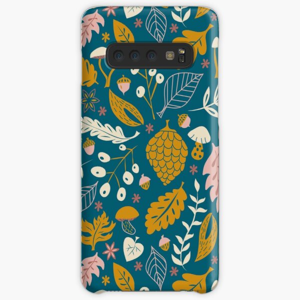 Fall Foliage in Gold + Blue Samsung Galaxy Snap Case