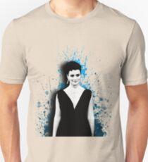 Cote de Pablo Blue Paint Unisex T-Shirt