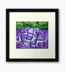 Digital painting of trees Framed Print