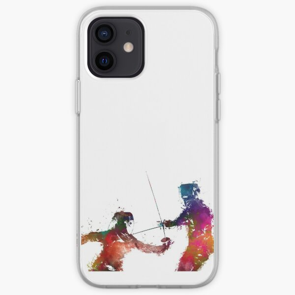 Fencing sport art #fencing iPhone Soft Case