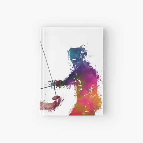 Fencing sport art #fencing Hardcover Journal