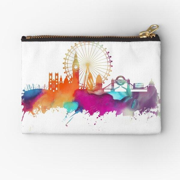 London skyline watercolor Zipper Pouch