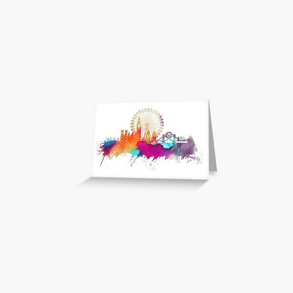 London skyline watercolor Greeting Card