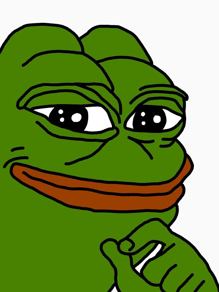smug pepe / smug frog | Unisex T-Shirt