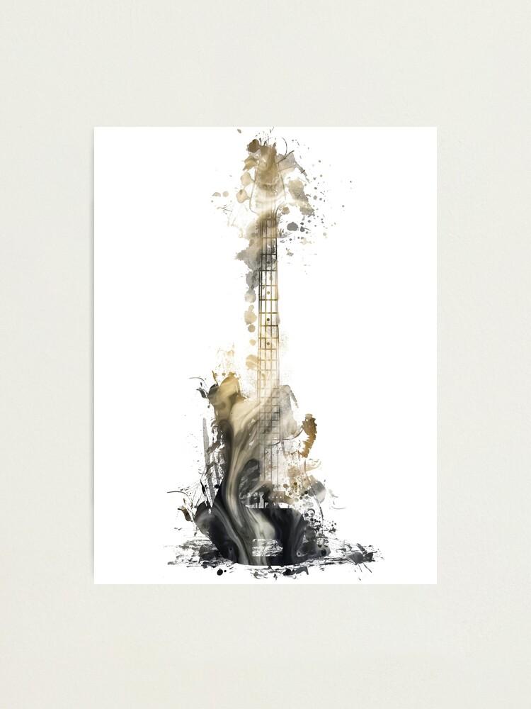 Alternate view of Blues guitar #guitar #music Photographic Print