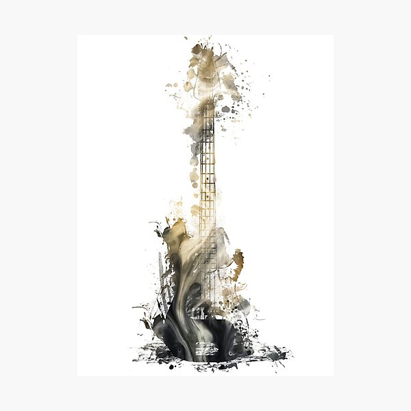Blues guitar #guitar #music Photographic Print