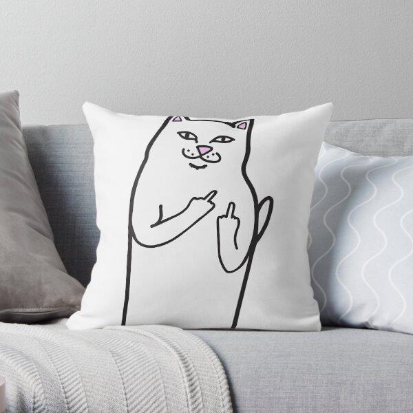 Bad Cat Throw Pillow