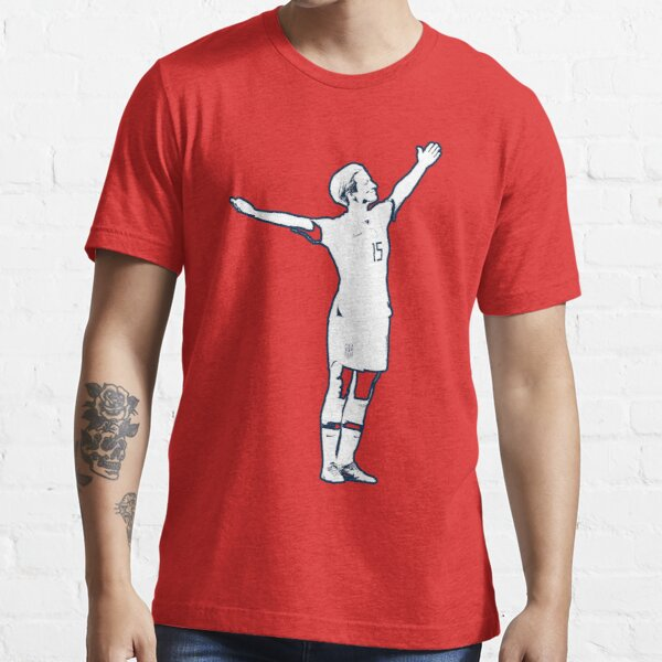 Megan Rapinoe Victory Pose - The White Stencil-bLUE oUTLINE-No Name Essential T-Shirt